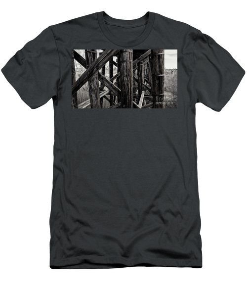 Men's T-Shirt (Athletic Fit) featuring the photograph Through A Trestle by Brad Allen Fine Art