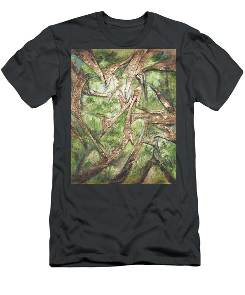 Through Lacy Branches Men's T-Shirt (Slim Fit) by Angela Stout
