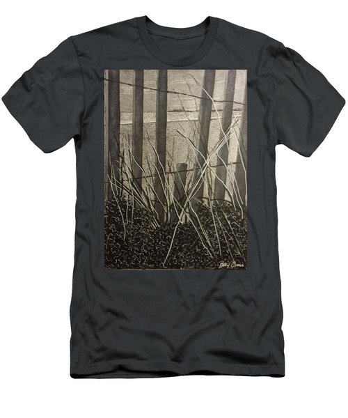Through The Beach Fence Men's T-Shirt (Athletic Fit)
