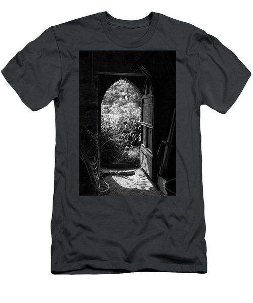 Men's T-Shirt (Athletic Fit) featuring the photograph Through The Door by Clare Bambers