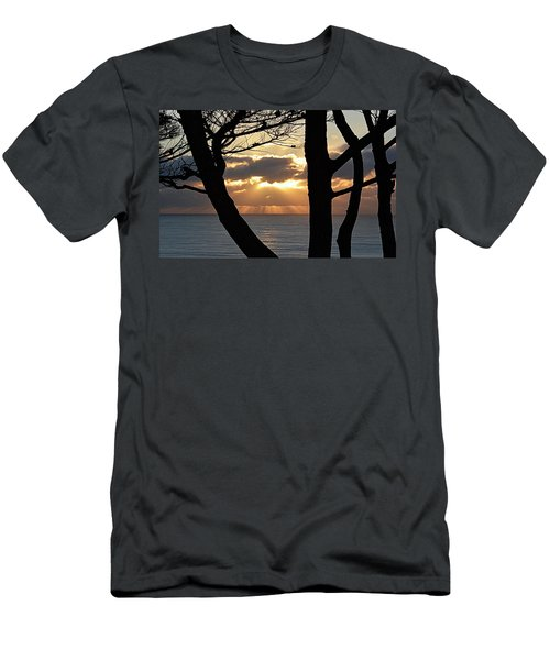 Through The Trees Men's T-Shirt (Slim Fit) by AJ Schibig
