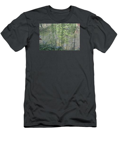 Men's T-Shirt (Slim Fit) featuring the photograph Through The Willows by Linda Geiger