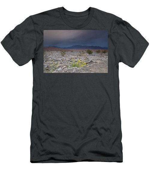 Thunderstorm Over Death Valley National Park Men's T-Shirt (Athletic Fit)