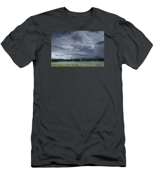 Thunderstorm Over Indian Pond Men's T-Shirt (Athletic Fit)