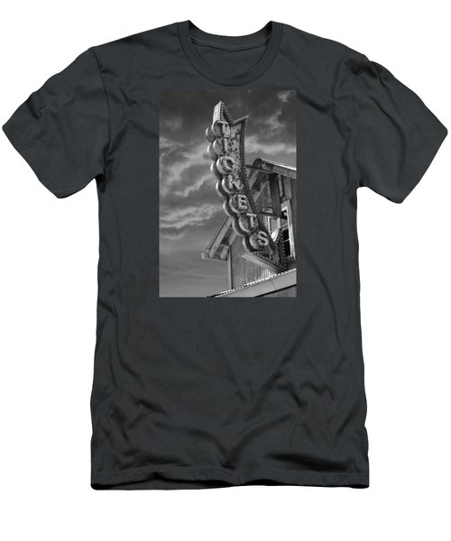 Men's T-Shirt (Slim Fit) featuring the photograph Tickets Bw by Laura Fasulo