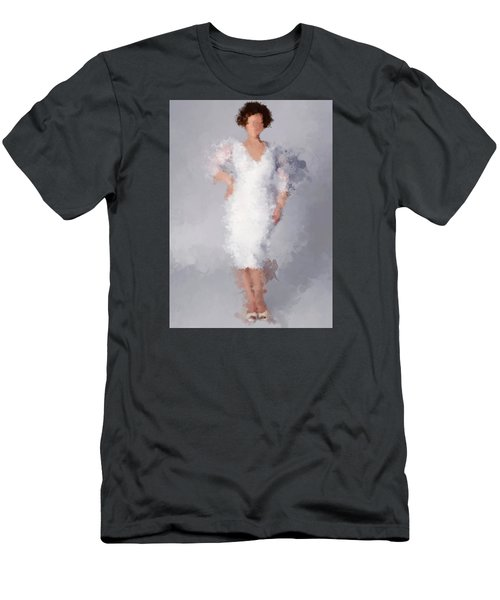 Men's T-Shirt (Slim Fit) featuring the digital art Tiffany by Nancy Levan
