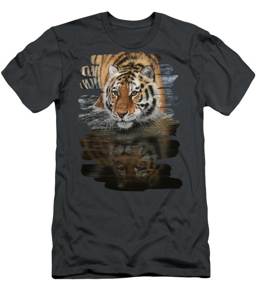 Tiger In Water Men's T-Shirt (Athletic Fit)