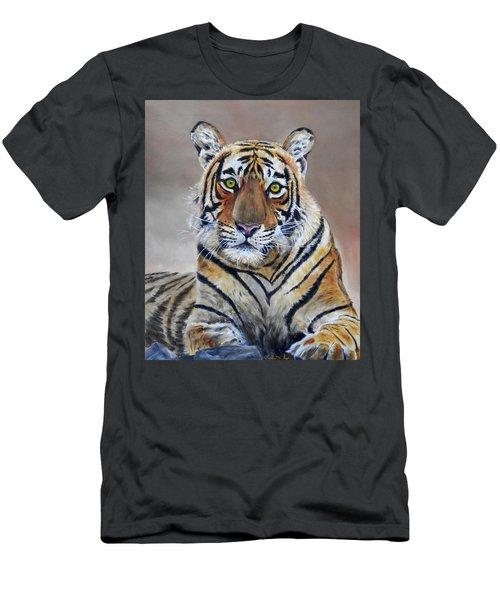 Tiger Portrait Men's T-Shirt (Athletic Fit)