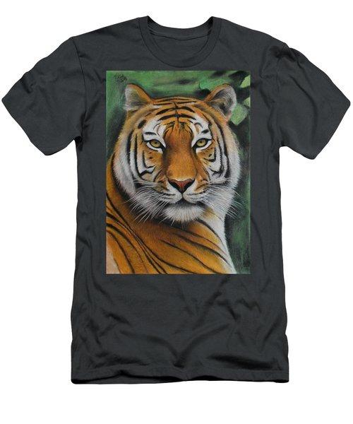 Tiger - The Heart Of India Men's T-Shirt (Slim Fit) by Vishvesh Tadsare