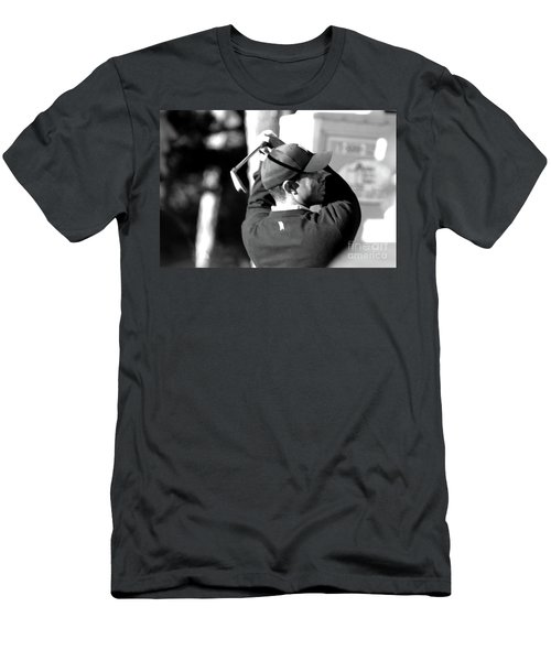Tiger Woods Blk Wht  Men's T-Shirt (Athletic Fit)
