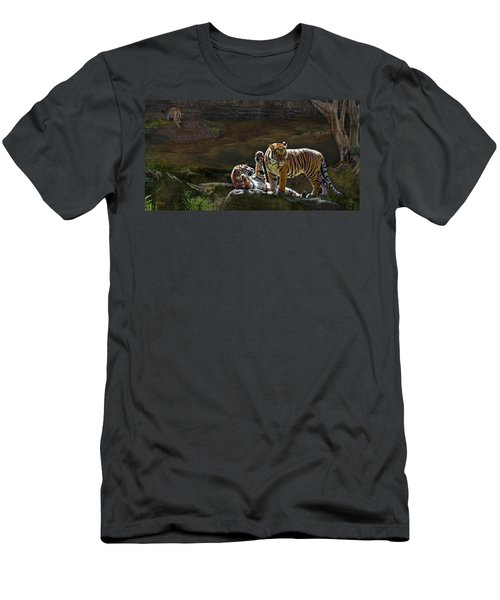Tigers In The Night Men's T-Shirt (Athletic Fit)