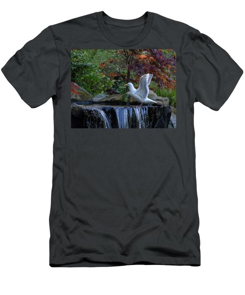 Time For A Bird Bath Men's T-Shirt (Slim Fit) by Keith Boone