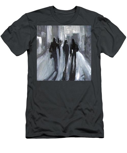 Time Of Long Shadows Men's T-Shirt (Slim Fit) by Barbara O'Toole