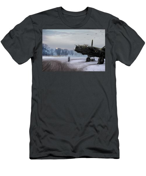 Time To Go - Lancasters On Dispersal Men's T-Shirt (Slim Fit) by Gary Eason