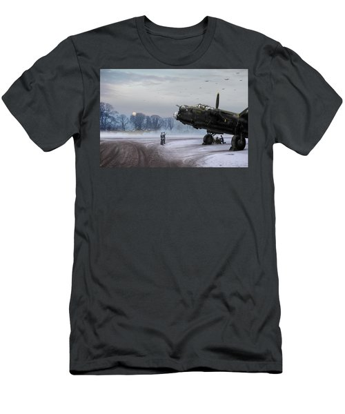 Time To Go - Lancasters On Dispersal Men's T-Shirt (Athletic Fit)