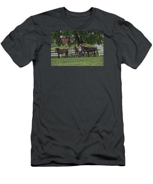 Time To Work Men's T-Shirt (Slim Fit) by Elizabeth Eldridge
