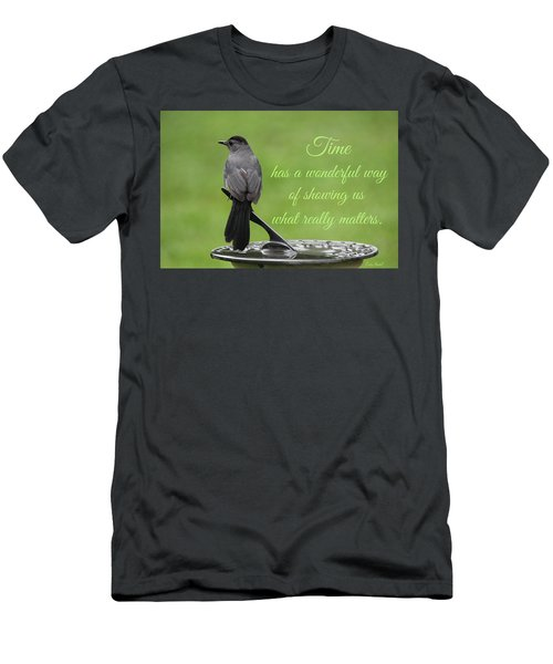 Men's T-Shirt (Athletic Fit) featuring the photograph Time by Trina Ansel