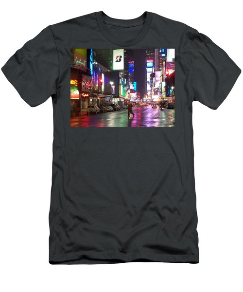 Times Square In The Rain 2 Men's T-Shirt (Athletic Fit)