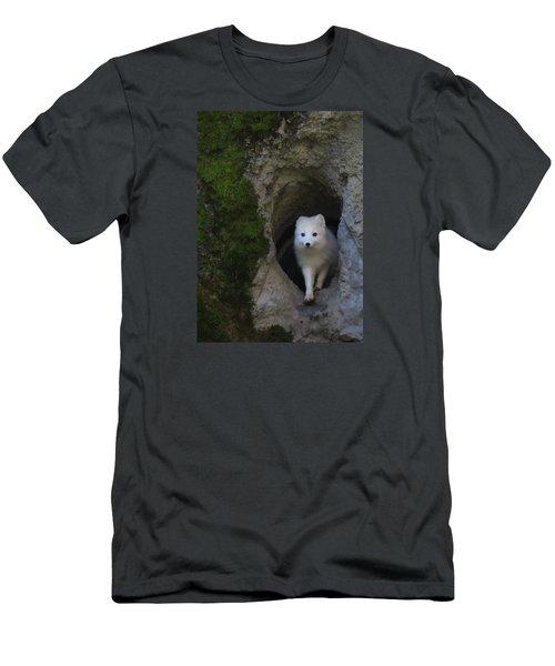 Timidly Men's T-Shirt (Slim Fit) by I'ina Van Lawick