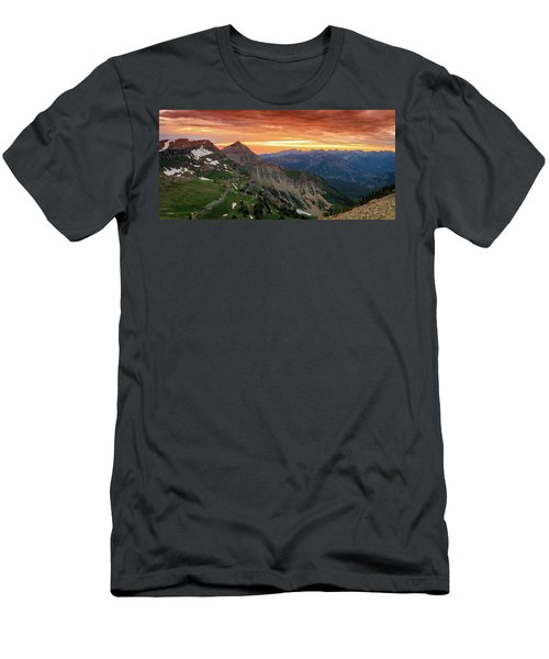 Timp Sunset Panorama Men's T-Shirt (Athletic Fit)