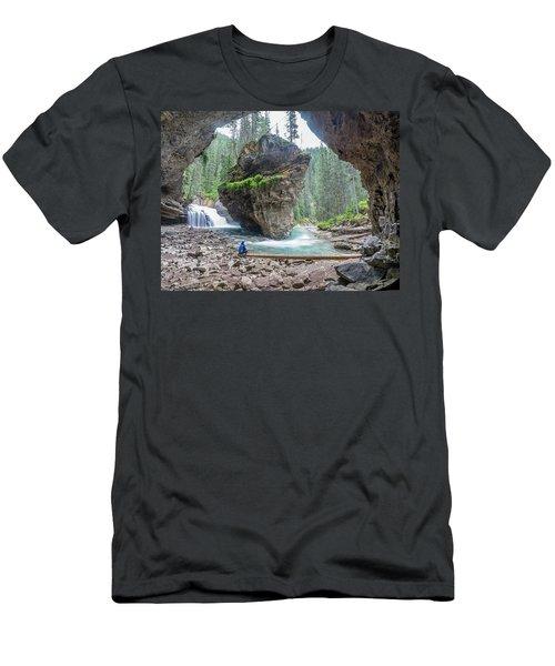 Tiny People Big World Men's T-Shirt (Slim Fit) by Alpha Wanderlust