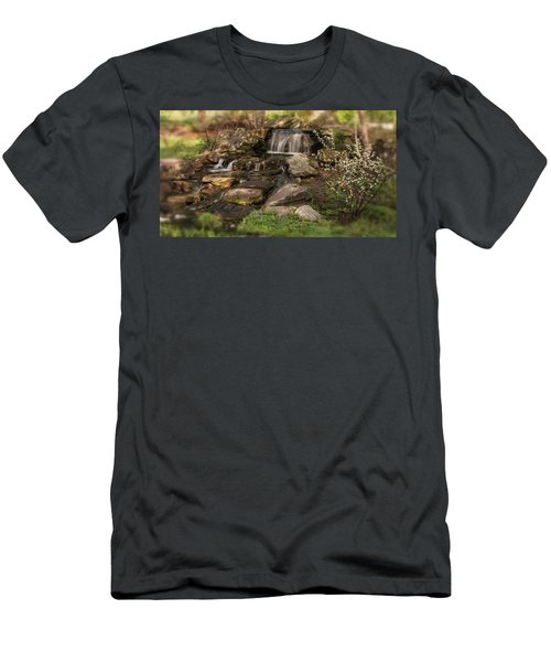 Men's T-Shirt (Athletic Fit) featuring the photograph Tiny Stream by Angie Tirado