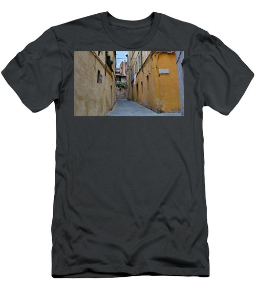 Tiny Street In Siena Men's T-Shirt (Athletic Fit)