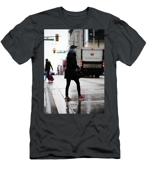 Men's T-Shirt (Slim Fit) featuring the photograph Tiny Umbrella  by Empty Wall