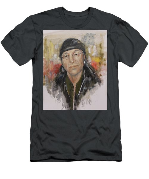To Honor John Trudell Men's T-Shirt (Slim Fit) by Synnove Pettersen