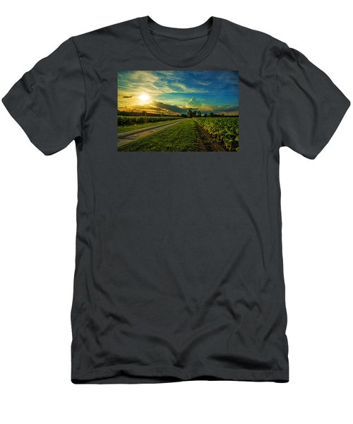 Men's T-Shirt (Slim Fit) featuring the photograph Tobacco Row by John Harding