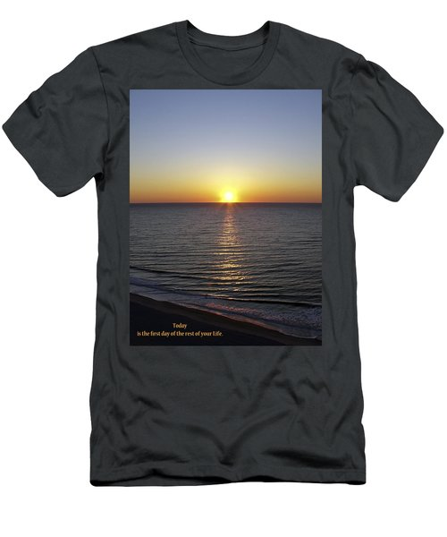 Today Men's T-Shirt (Slim Fit) by Rhonda McDougall