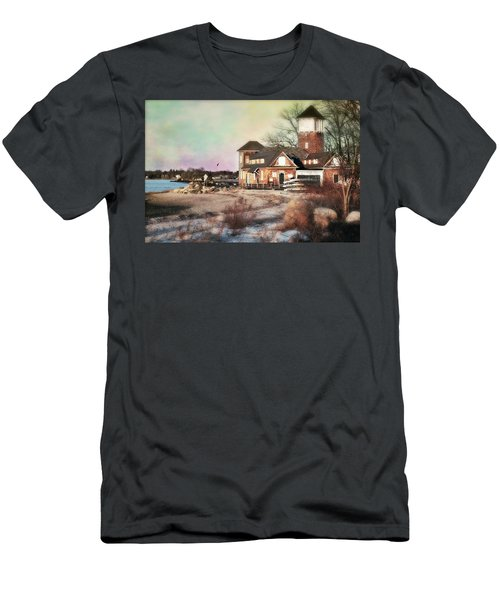 Tod's Point Beach House Men's T-Shirt (Slim Fit) by Diana Angstadt