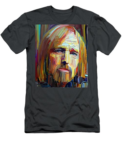 Tom Petty Tribute Portrait 4 Men's T-Shirt (Athletic Fit)