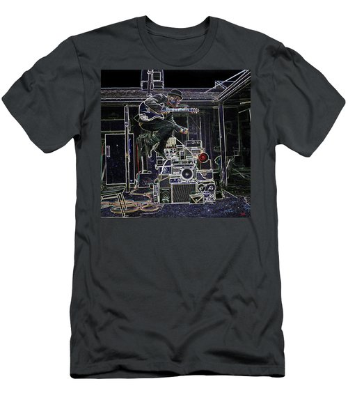 Tom Waits Jamming Men's T-Shirt (Slim Fit) by Charles Shoup
