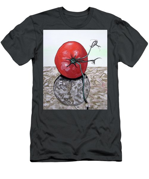 Tomato On Marble Men's T-Shirt (Athletic Fit)