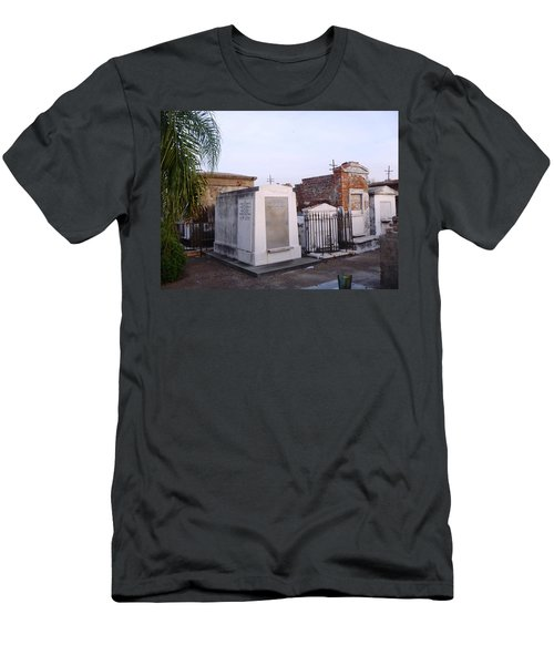 Tombs In St. Louis Cemetery Men's T-Shirt (Slim Fit) by Alys Caviness-Gober