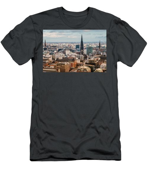 Top View Of Hamburg Men's T-Shirt (Athletic Fit)