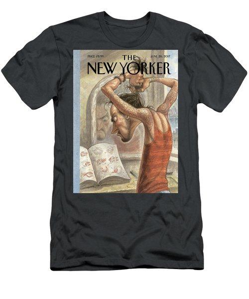 Topknot Men's T-Shirt (Athletic Fit)