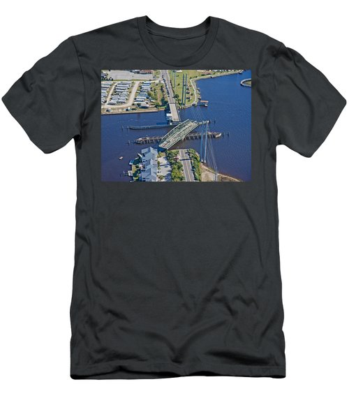 Topsail Island Swing Bridge Men's T-Shirt (Athletic Fit)