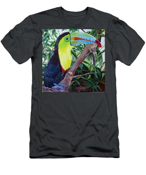 Toucan Portrait Men's T-Shirt (Slim Fit) by Marilyn McNish