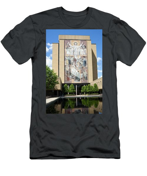 Touchdown Jesus Mural Men's T-Shirt (Slim Fit) by Sally Weigand