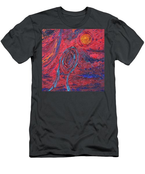Men's T-Shirt (Slim Fit) featuring the painting Toward Survival by Vadim Levin