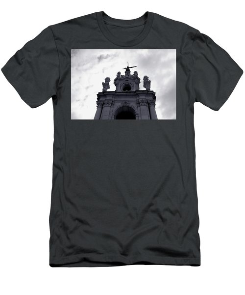 Men's T-Shirt (Athletic Fit) featuring the photograph Tower Against The Clouds by Lorraine Devon Wilke