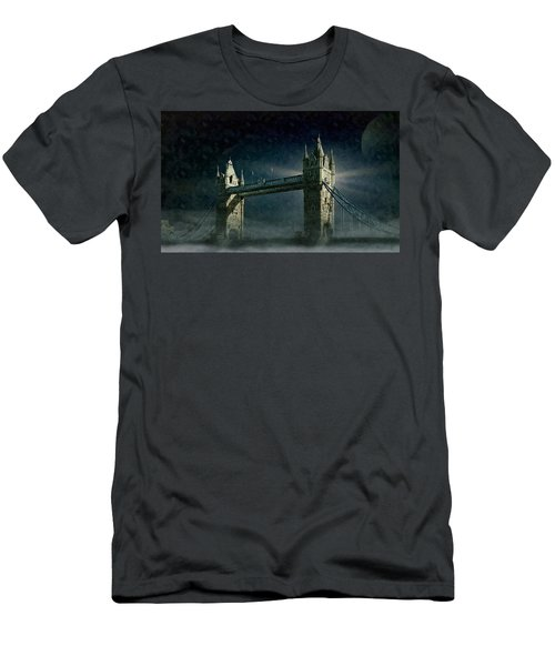 Tower Bridge In Moonlight Men's T-Shirt (Athletic Fit)