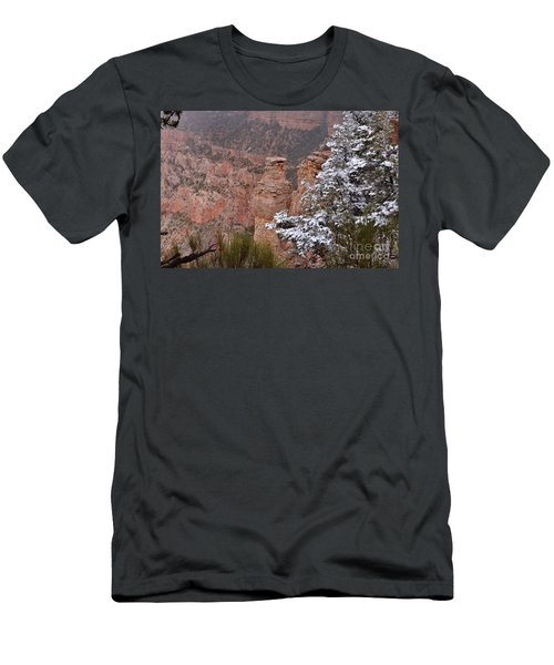 Towers In The Snow Men's T-Shirt (Slim Fit) by Debby Pueschel