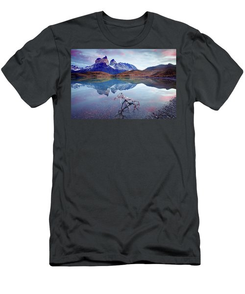 Men's T-Shirt (Slim Fit) featuring the photograph Towers Of The Andes by Phyllis Peterson