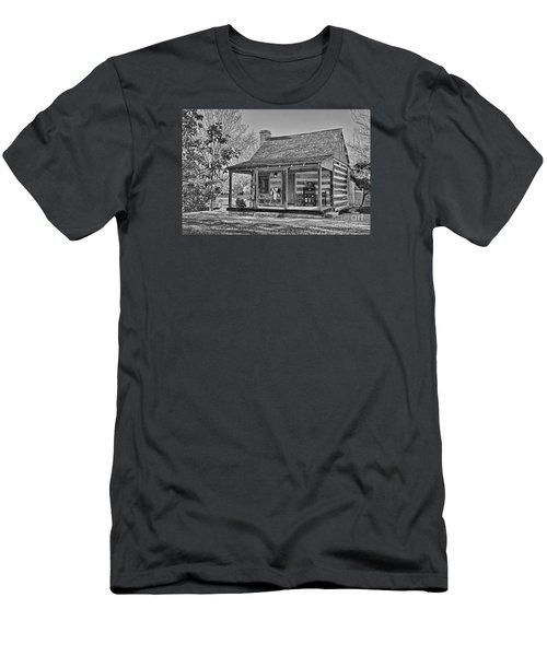 Town Creek Log Cabin In Fall_2 Men's T-Shirt (Athletic Fit)