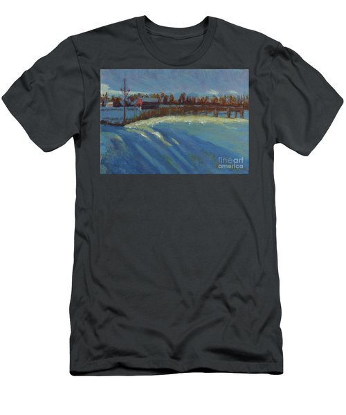 Tracks In The Snow Men's T-Shirt (Athletic Fit)