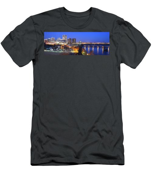Tracks Into The City Wide Angle Men's T-Shirt (Athletic Fit)