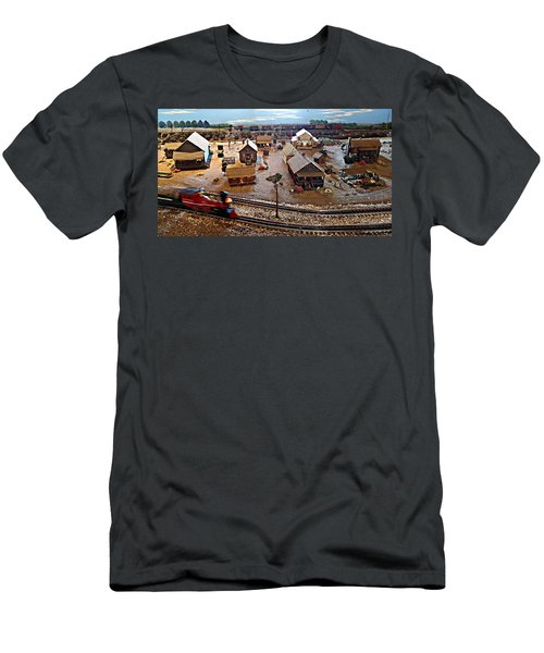 Men's T-Shirt (Slim Fit) featuring the photograph Tracks by Steve Sperry